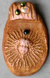 Art: Sun Goddess Pendant by Artist Deborah Sprague