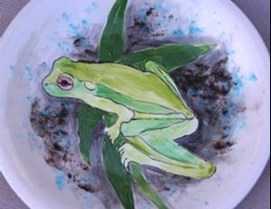 Detail Image for art Frog platter