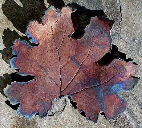 Art: Raku Leaf II by Artist Deborah Sprague