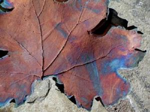Detail Image for art Raku Leaf II