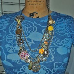 Art: Art Collage Necklace A5 by Artist studio524