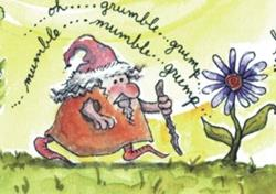 Art: Giant Flower Forest #1: Cobbly Gnome Man SOLD by Ann Murray
