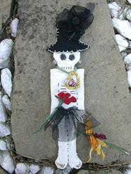 Art: Halloween Skeleton Love Doll   SOLD by Artist Ann Murray