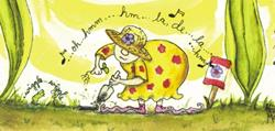 Art: Giant Flower Forest #3: The Little Gardener Sings to Her Plants SOLD by Ann Murray