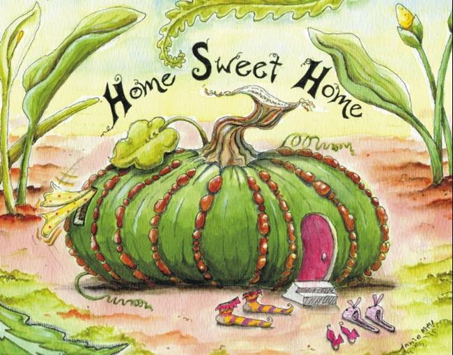 Art: Fairy Fairylet House #2: Home Sweet Home by Artist Ann Murray