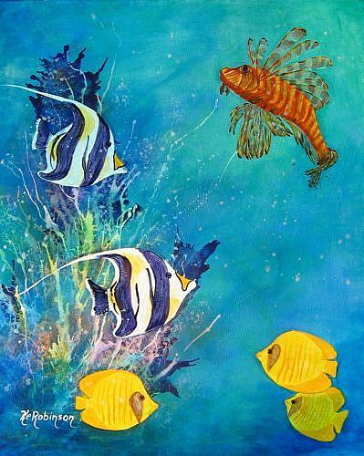 Art: LION FISH #1629 SOLD by Artist Ke Robinson