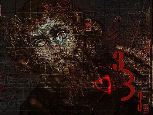 Art: Jesus Wept by Artist Alma Lee