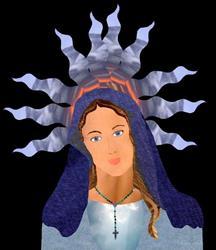 Art: Mother Mary by Artist Carissa M Martos
