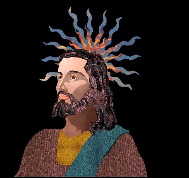 Art: Jesus by Artist Carissa M Martos