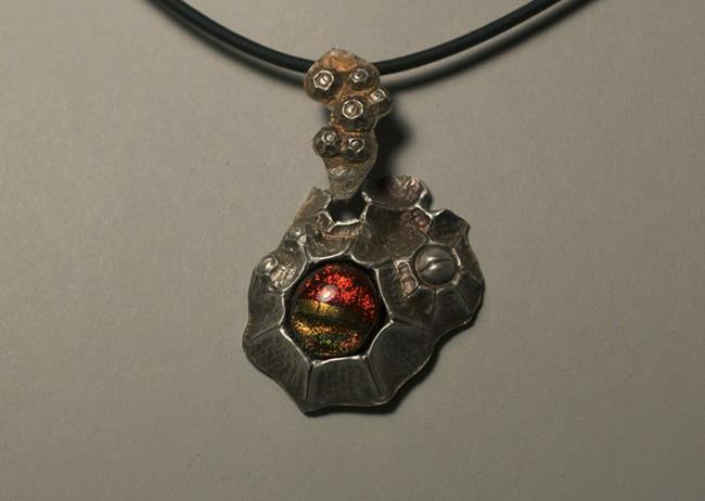 Art: Sea Maiden's Barnacle Pendant by Artist Robin Cruz McGee