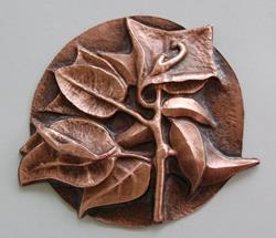 Art: Bougainvillia In Copper by Artist Robin Cruz McGee