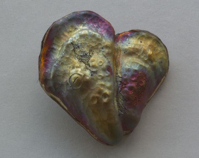 Art: Oyster Heart Pendant by Artist Robin Cruz McGee