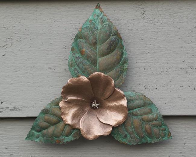 Art: Copper Hibiscus by Artist Robin Cruz McGee