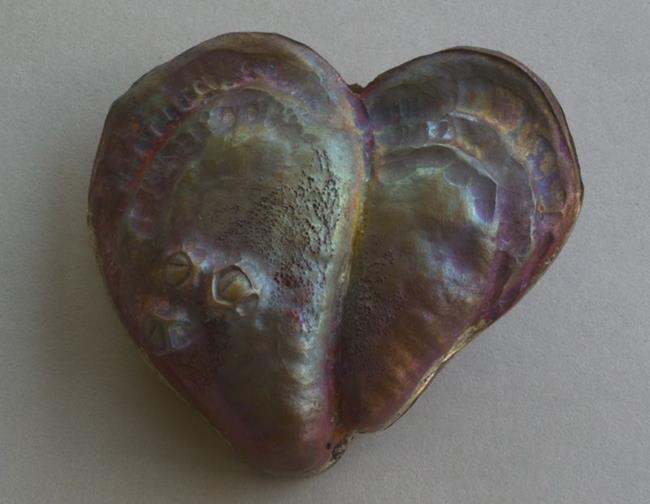 Art: Oyster Heart Pendant 3 by Artist Robin Cruz McGee