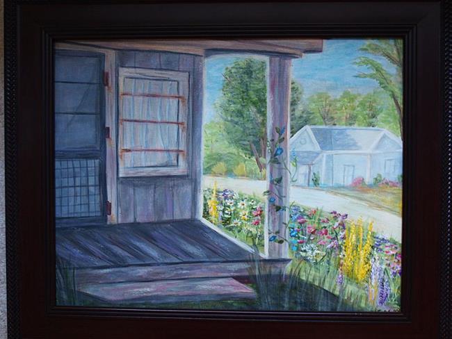 Art: Old Beekeeper's Store- Wake Forest by Artist Karen Lynn Evans