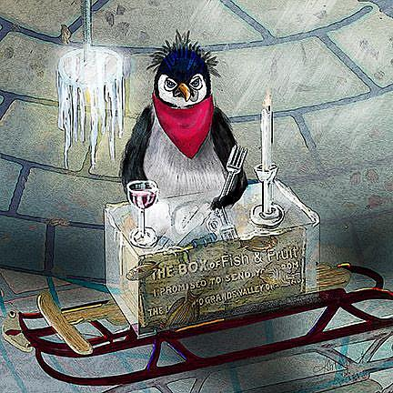 Art: Just Another Frozen Dinner by Artist Alma Lee