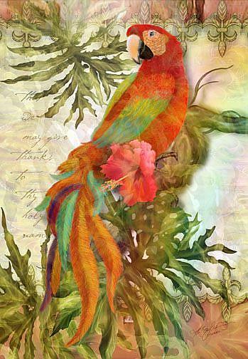 Art: Feathers of Praise by Artist Alma Lee