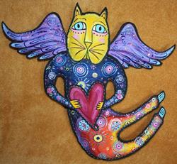 Art: Beth's Cat Fancy Angel by Artist Tina Marie Ferguson