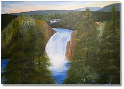 Art: Lower Falls of Yellowstone - sold by Artist Shari Lynn Dunn