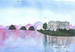 Art: Carew Castle II - sold by Artist Shari Lynn Dunn
