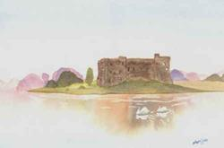 Art: Study of Carew Castle - sold by Artist Shari Lynn Dunn