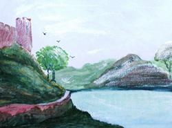 Art: Victorian Pembroke Castle - sold by Artist Shari Lynn Dunn