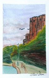 Art: Mini Pembroke Castle - sold by Artist Shari Lynn Dunn