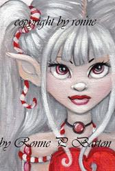Art: Peppermint Pixie by Artist Ronne P Barton