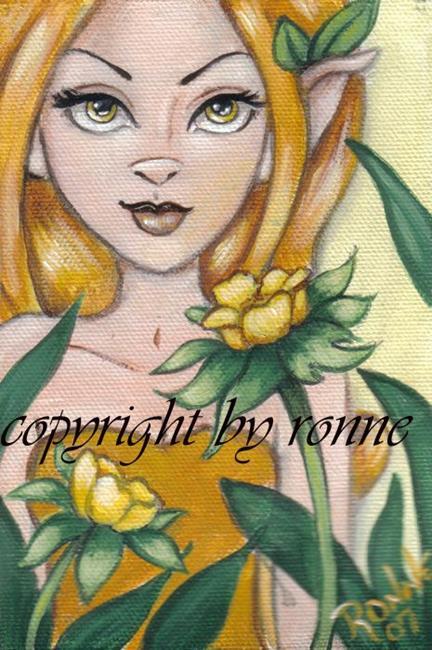 Art: Buttercup by Artist Ronne P Barton