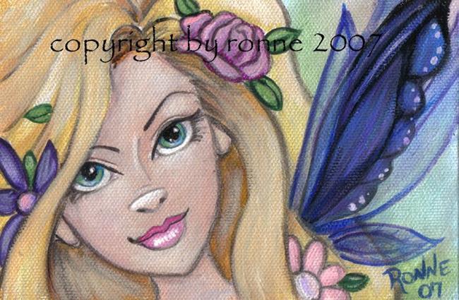 Art: Spring Fairy OSWOA™ by Artist Ronne P Barton