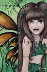 Art: Woodland Sprite OSWOA� by Artist Ronne P Barton