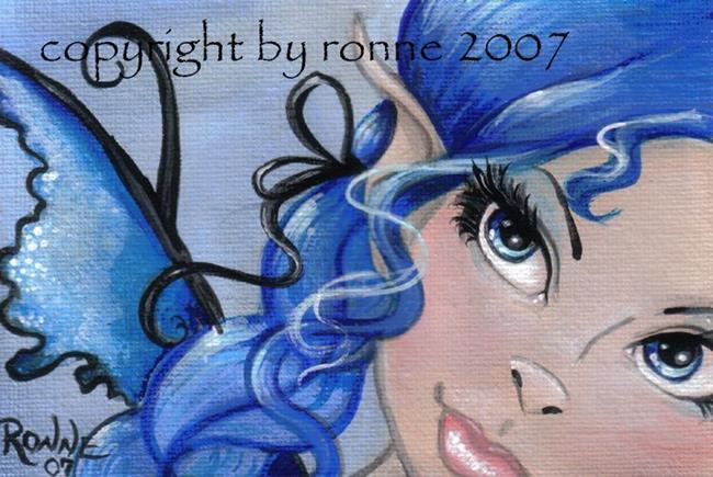 Art: Summer Blue OSWOA™ by Artist Ronne P Barton