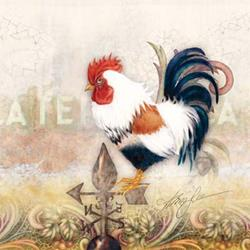 Art: Paisley Rooster by Artist Alma Lee