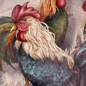 Detail Image for art Rooster Trio