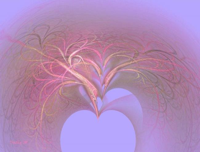Art: SEA OF HEARTS by Artist RUTH J JAMIESON