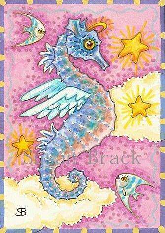 Art: ALL GOOD SEAHORSES GO TO HEAVEN by Artist Susan Brack