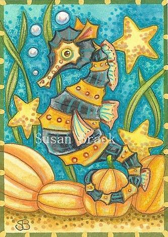 Art: HALLOWS EVE UNDER THE SEA by Artist Susan Brack
