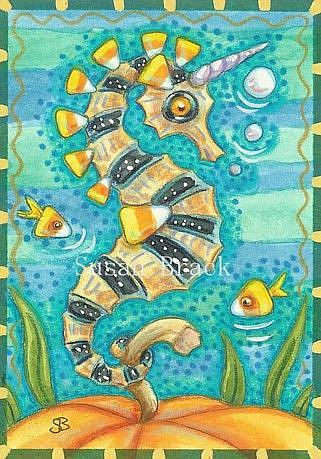 Art: CANDY CORN UNDER THE SEA by Artist Susan Brack