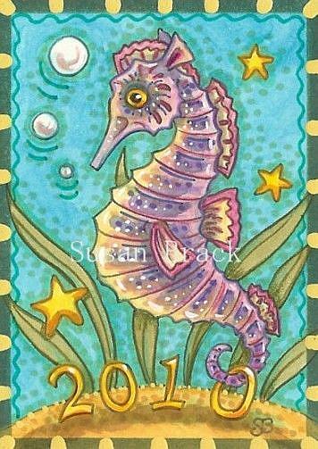 Art: NEW YEARS UNDER THE SEA by Artist Susan Brack