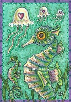 Art: SEAHORSE JELLIES by Artist Susan Brack