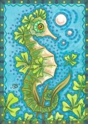 Art: SHAMROCK SEAHORSE by Artist Susan Brack