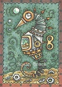 Art: STEAMPUNK SEAHORSE AQUARIUM by Artist Susan Brack