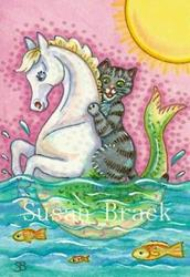 Art: RIDE ON A SEAHORSE by Artist Susan Brack