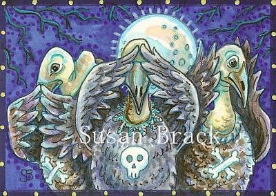 Art: VULTURES SEE NO EVIL by Artist Susan Brack