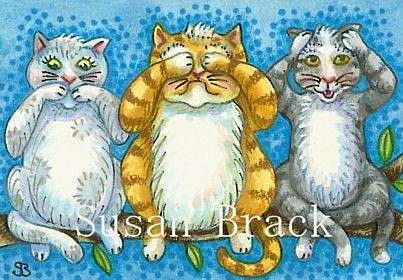 Art: ZIP ZILCH AND NADA by Artist Susan Brack
