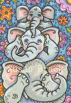 Art: ELEPANTS SEE NO EVIL by Artist Susan Brack
