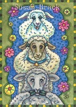 Art: SEE NO EVIL FLOCK #2 by Artist Susan Brack