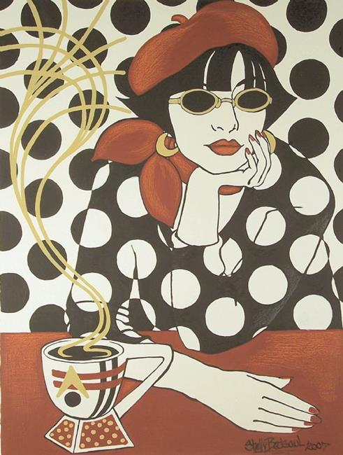 Art: Cafe' Retro (sold) by Artist Shelly Bedsaul