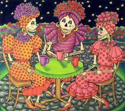 Art: Latte Ladies (sold) by Artist Shelly Bedsaul
