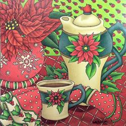 Art: Poinsettia Time by Artist Shelly Bedsaul